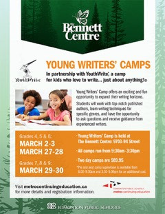 {The Bennett Centre: Young Writer's Camps 2017}